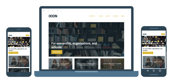 Ixion Responsive WordPress theme