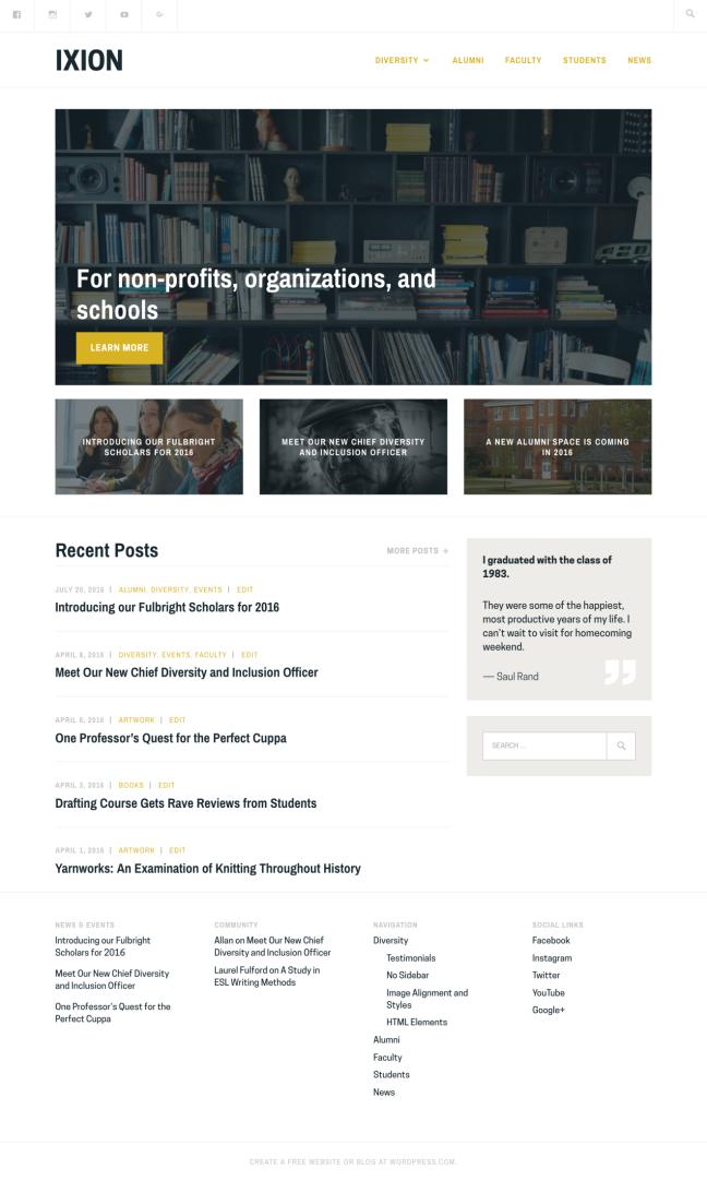 Ixion Responsive WordPress Theme