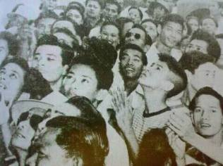 A crowd of devotees gathered just outside the Mount Carmel Monastery at Lipa, Batangas in 1948, witnessing the miraculous shower of rose petals where holy images of Mama Mary and Jesus are engraved. This mystery remains unexplained to date.