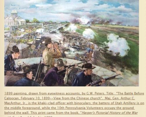 battle of Caloocan Phil American War 1899